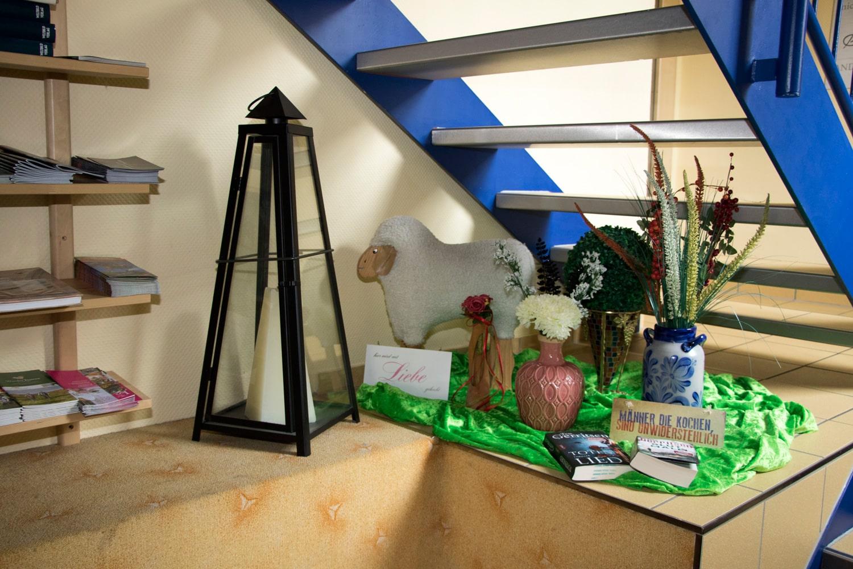 Gästehaus-Treppenabsatz